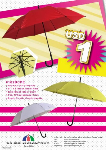 Auto. Stick Umbrella